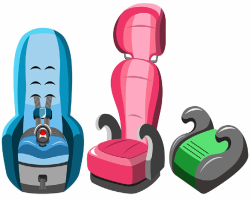 Picture of various car seat types