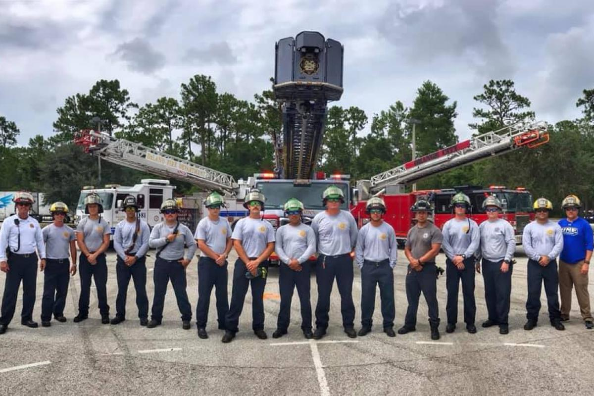 2019 Aerial Operations Class with Deland and Orange City