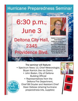 hurricane preparedness seminar, June 3