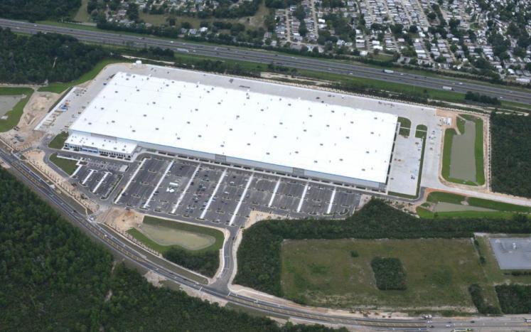 Aerial view of fulfillment center in Deltona