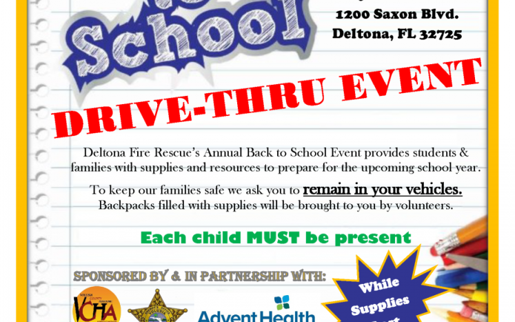 back to school event, 8 to 11 a.m., Aug. 8, Dewey O. Boster Sports Complex