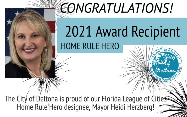 Mayor honored with '21 Home Rule Hero Award